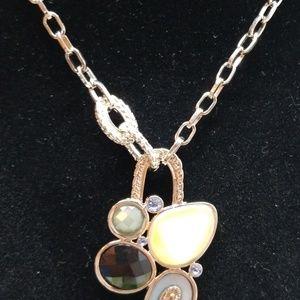 Lia Sophia Jewelry - Lia Sophia Muliti-stone Pendant Necklace